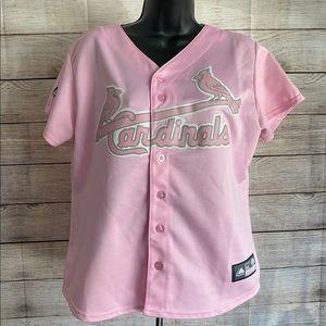 Majestic St. Louis Cardinals Pink Baseball Jersey